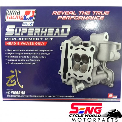 LC135 SUPER HEAD WITH VALVE ONLY-22MM/25MM-UMA
