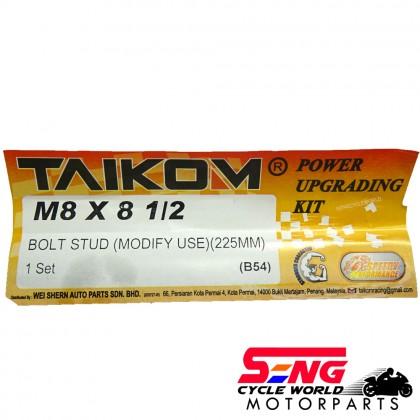 WAVE 125/ KRISS RACING CYLINDER BLOCK TIANG SET M8 X 81 (225MM) TAIKOM