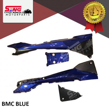 RXZ CATALYZER 5PV REAR BODY COVER SET - BLACK, BMC BLUE, VRC RED, DRMK RED, GREY & WHITE